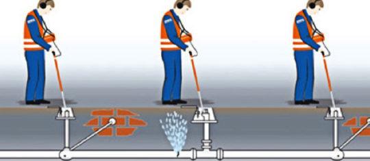recherche de fuites d'eau